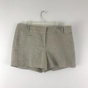 LOFT Shorts Sz 12 Cream Black Dot Embroidery (M12)